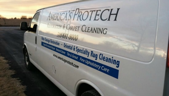 America's Protech white van with lettering