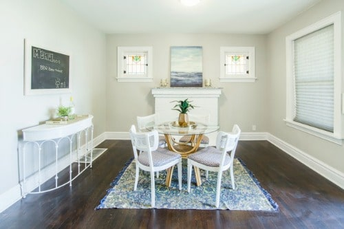 staged dining room free of personal items